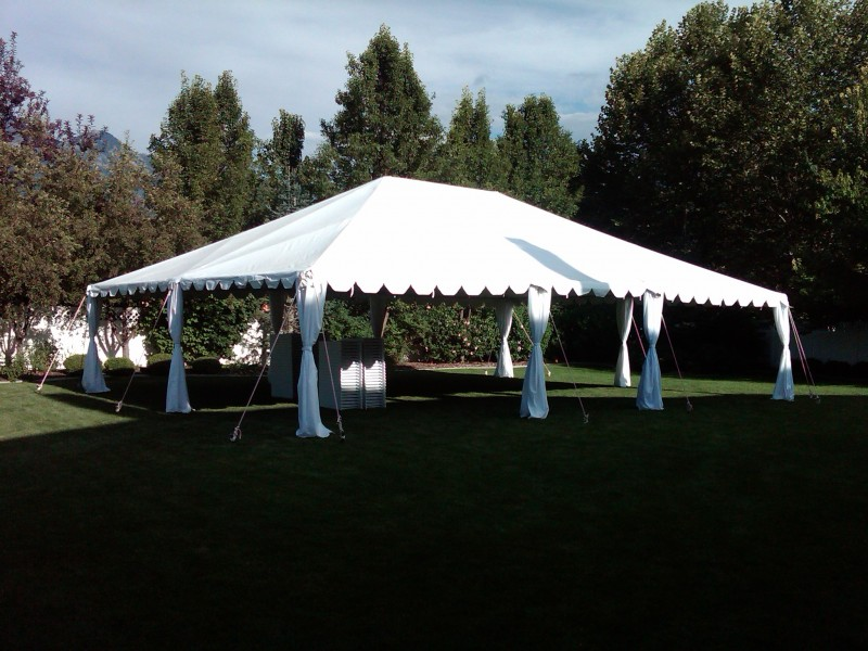 30x40 Standard Tent with leg Drapes