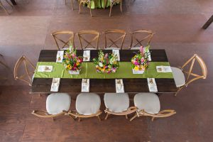 Spring Theme Fruitwood Banquet Table