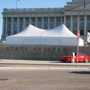 20' x 40' high peak carnival tent canopy for rent in Logan utah
