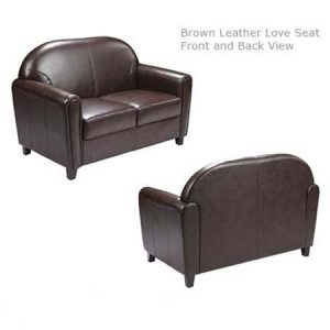 Brown Leather love Seat for rent in Draper Utah