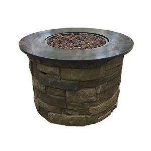 Composite Stone Fire Pit For rental in Salt lake City Utah