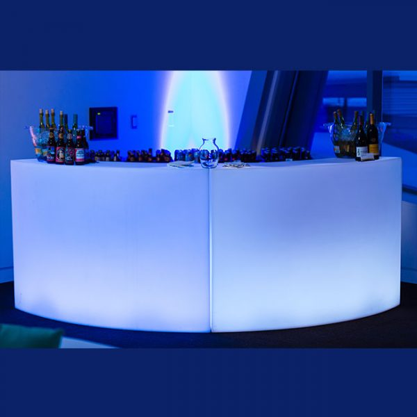 Curved LED Bar for Rent in Salt Lake City