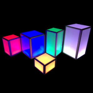 Multi Color LED Pillars