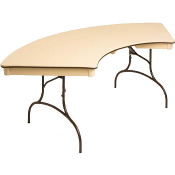 Serpentine Curved Table for rent in Murray Utah