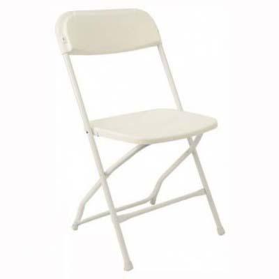 White Resin Folding Chair for rent in Utah