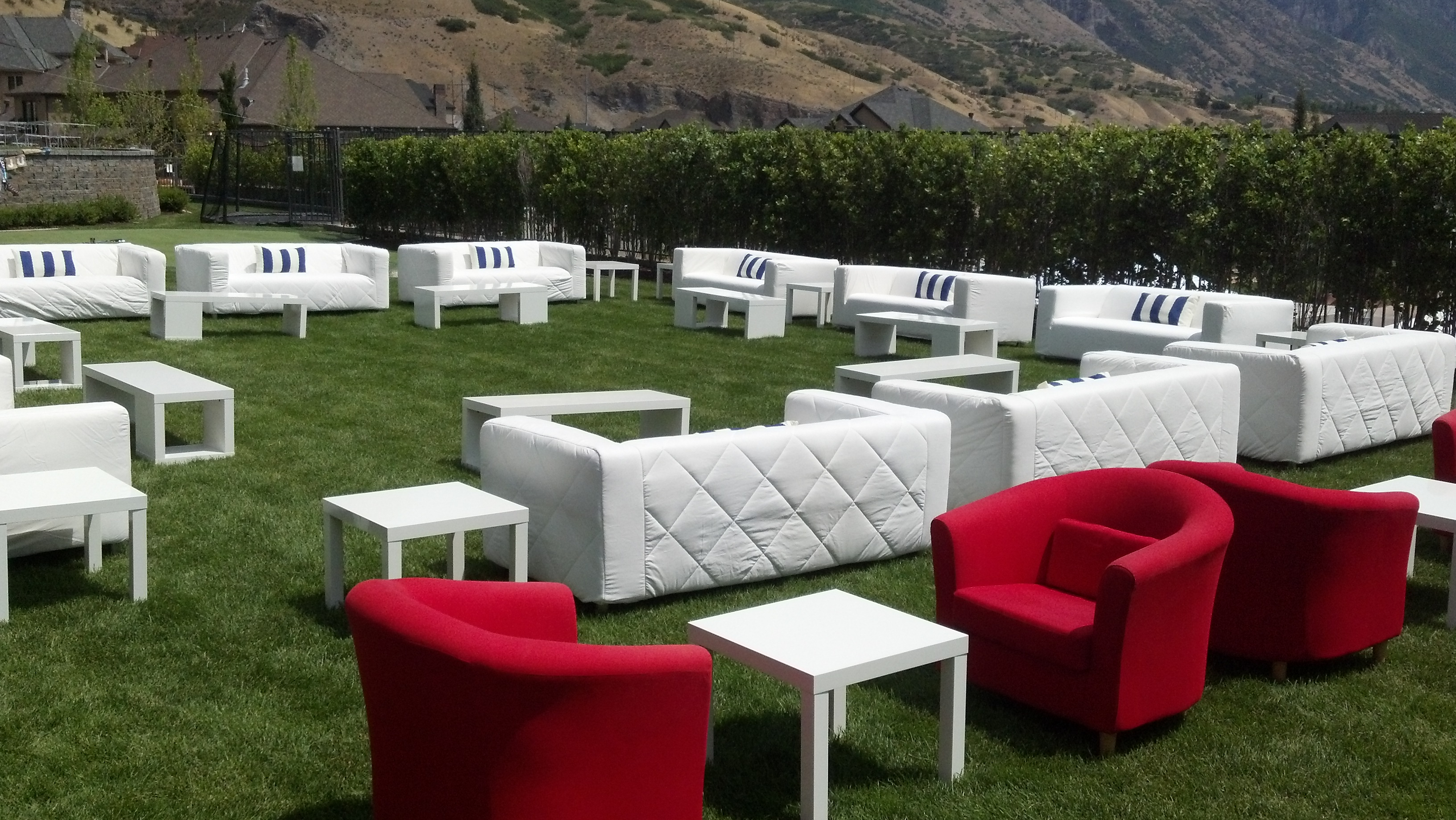 Party rental equipment salt lake all out event rental Furniture in rental home
