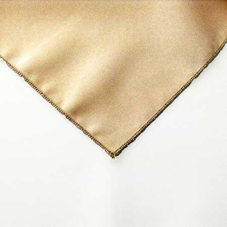 Beige Tan Polyester napkin Linen for rent in Park City UTah