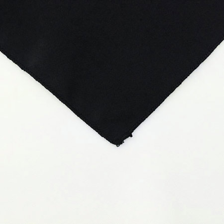 Black Polyester Napkin Linen for rent in Herriman Utah