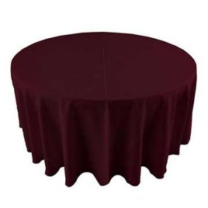 Burgundy Red brown linen for event rental in Price Utah