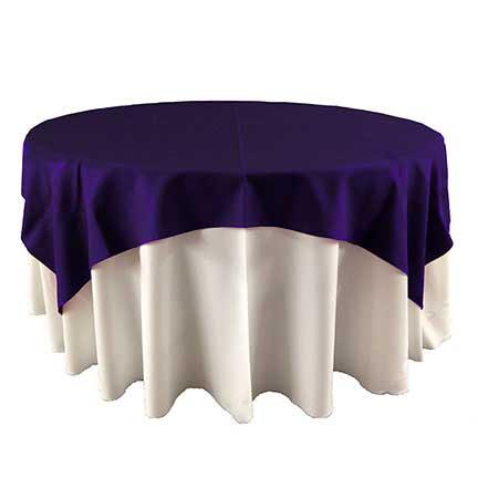 Dark Eggplant purple overlay for wedding rental in park city utah