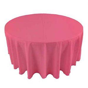 Flamingo Bright Pink linen for party rental in Murray Utah