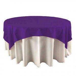 Grape Purple table overlay for rental in Hurrican Utah