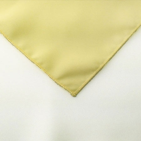 Maize Light yellow polyester Napkin Linen for rent in Lehi utah