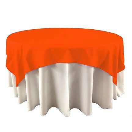Orange Overlay linen for rental in Riverton UTah