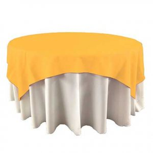 Bright Poppy Yellow Overlay for event rental in Midvale UT