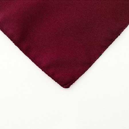 Raspberry Red Polyester Napkin Linen for rent in Park City utah