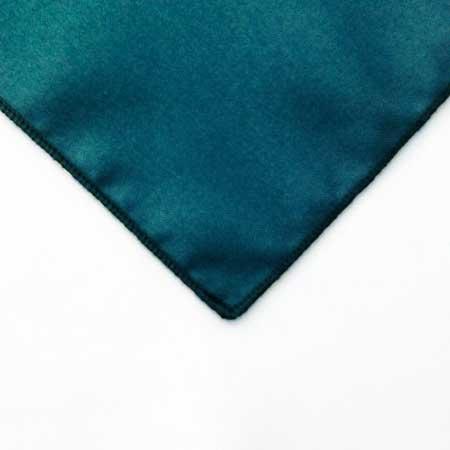 Deep Teal Peacock polyester Napkin Linen for rent in Sandy utah