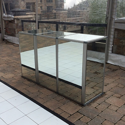 Silver Frame Mirrored Bar for Rent in Salt Lake City, Utah