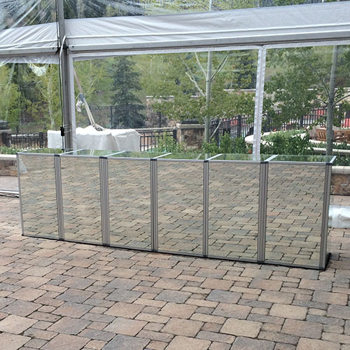Six Panel Mirror Bar for Rent in Utah