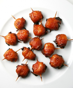 http://allrecipes.com/recipe/14968/bacon-wrapped-water-chestnuts-iii/