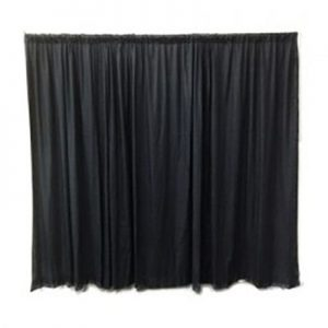 Black Wall Dividing Event Drape for rental in Orem Utah