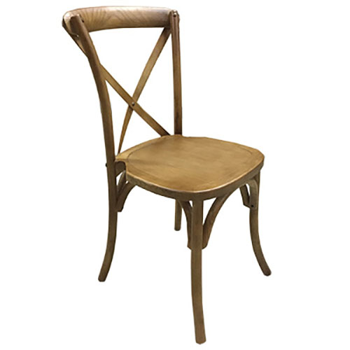 Rustic X Back Wooden Chair for rent in Park City Utah