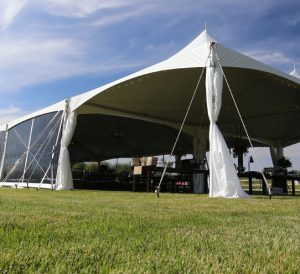 side view of a tent