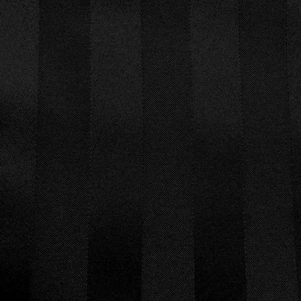 Swatch Poly Stripe Black Linen