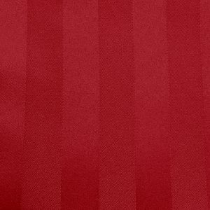 Poly Stripe Red Linen Swatch