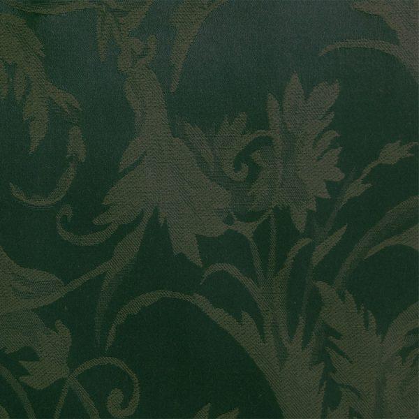 Polyester Forest Green Miranda Linen Swatch