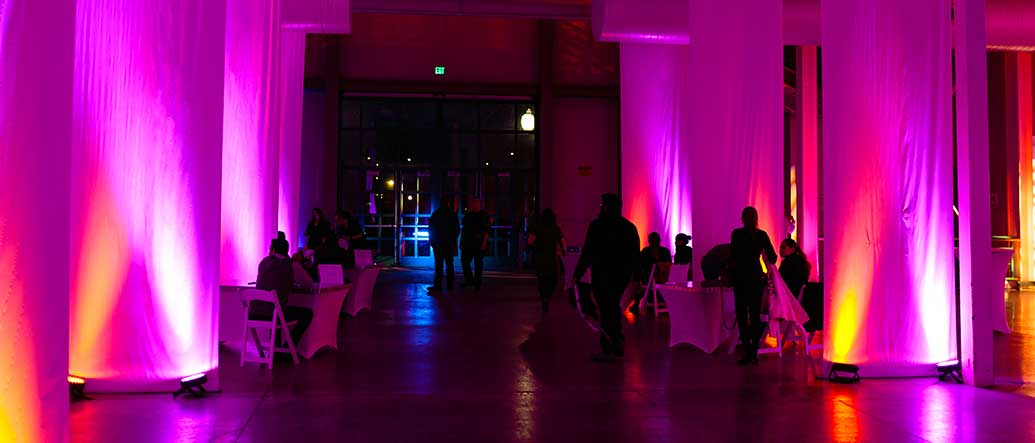 Pink and Orange LED Lighting for rent in Salt Lake City Utah