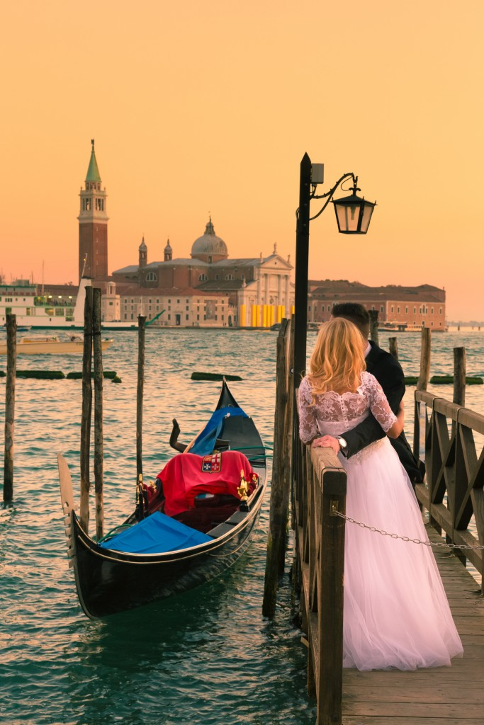 Just married in Venice, Italy.