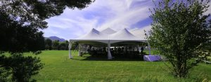 outdoor party with tent
