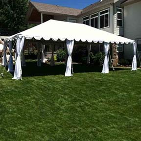 20' X 30' Standard tent canopy for party rental in Utah