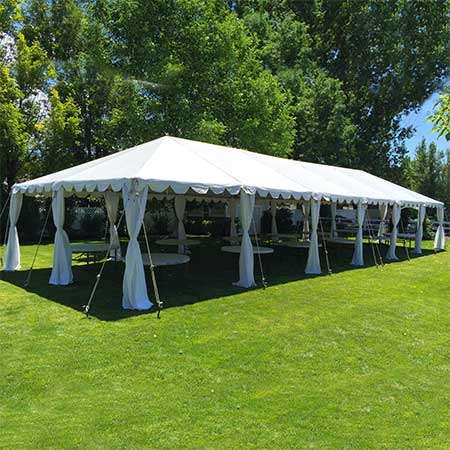 20 x 60 Standard Frame Canopy-Tent for rent in Salt Lake City Utah