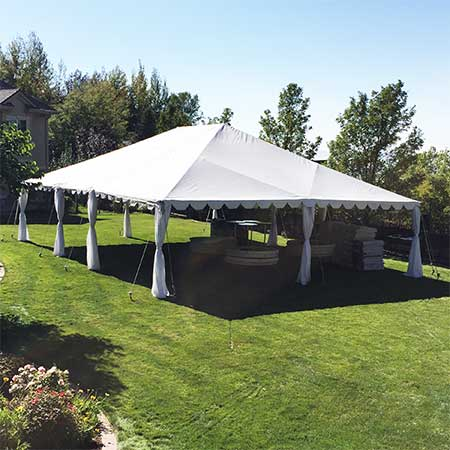 30 x 40 Standard Frame Canopy-Tent for rent in Salt Lake City Utah