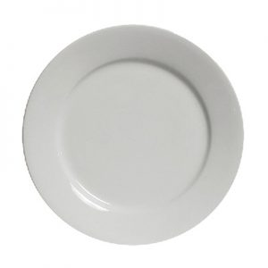 Alaskan White Dinner Plate for Rent in Salt Lake City Utah