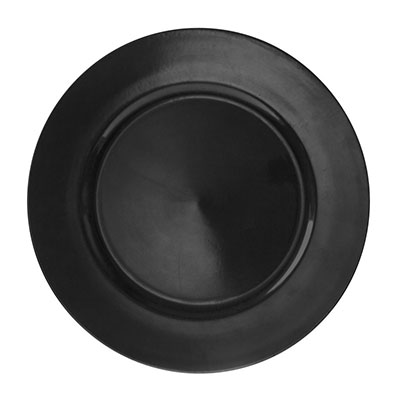Black Lacquer Charger Plate for rent in Salt Lake City Utah