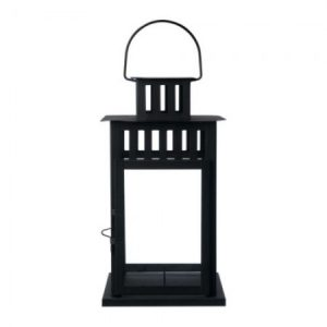 Black Framed Lantern Decor for Rent in Salt Lake County