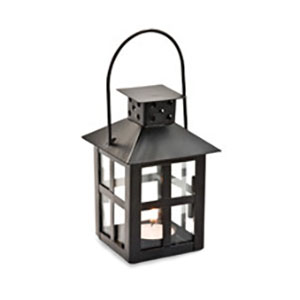 Black Mini Lantern Tea light centerpiece for rent in Ogden Utah