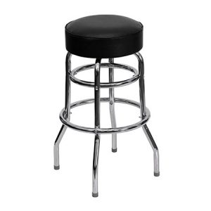 Black and Chrome Bar Stool for rent in Salt Lake City Utah