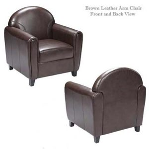 Brown leather Arm Chair for rent in Southern Utah