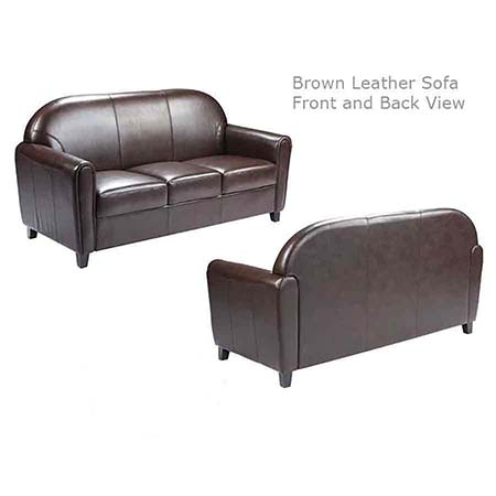 Brown Leather lounge Sofa Furniture for rent in West Jordan