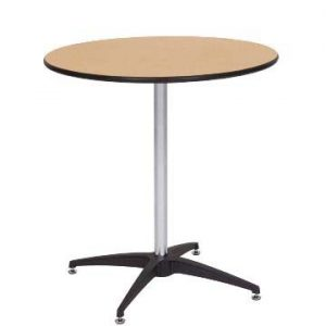 Round Cabaret Wood Table 30X30 for rent in South Jordan Utah