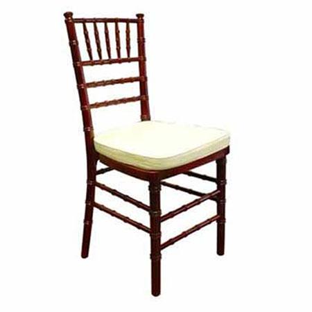 Chiavari Fruitwood Chair with Pad for rent in Salt Lake City Utah