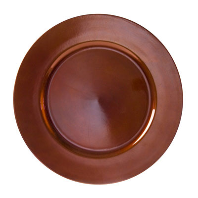 Copper Lacquer Charger Plate for Rent in Salt Lake City Utah