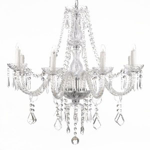 Elegant Crystal Chandelier lighting for ten for rental in Park City utah
