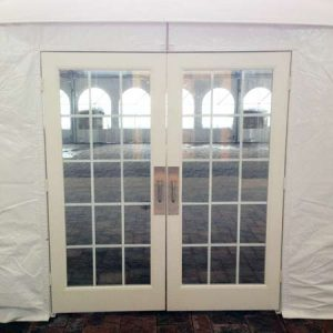Glass Tent Door for rent in Utah