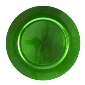 Green Lacquer Charger Plate for rent in Salt Lake City Utah