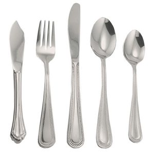 Pearl Edge Flatware for rent in Salt Lake City Utah